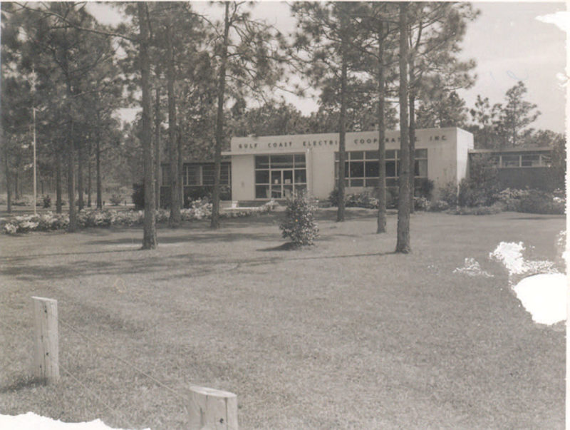 The GCEC headquarters in Wewahitchka in the early 1970s.