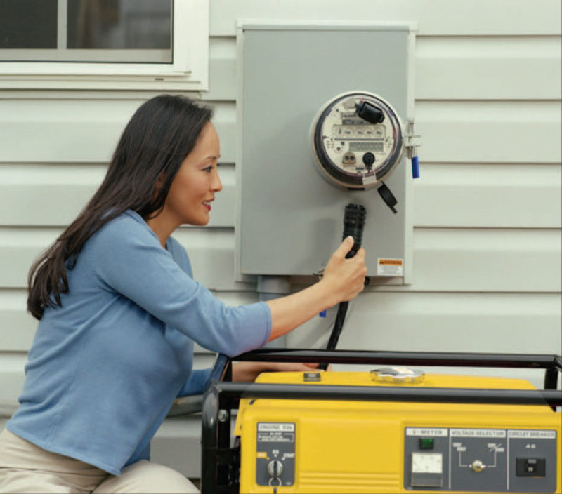GenerLink allows members to safely and conveniently connect a portable generator to their home in minutes.